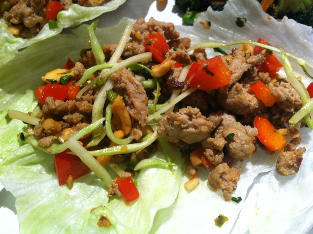 Asian Lettuce Cups (or Wraps) With Spicy Ground Turkey Filling Recipes ...